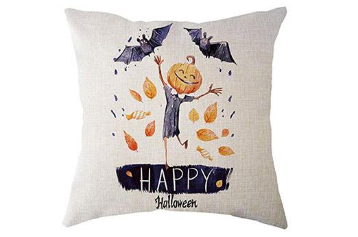 "Kissenbezug Kürbis ""Happy Halloween"" 45cmx45cm"