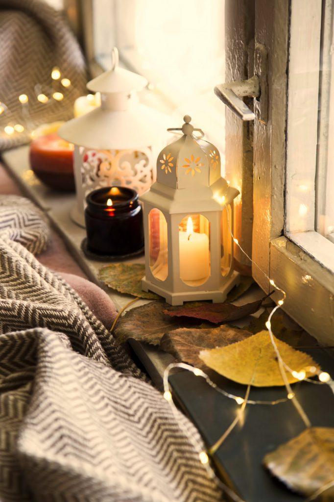 Herbstdeko basteln für Fenster Galerie 1