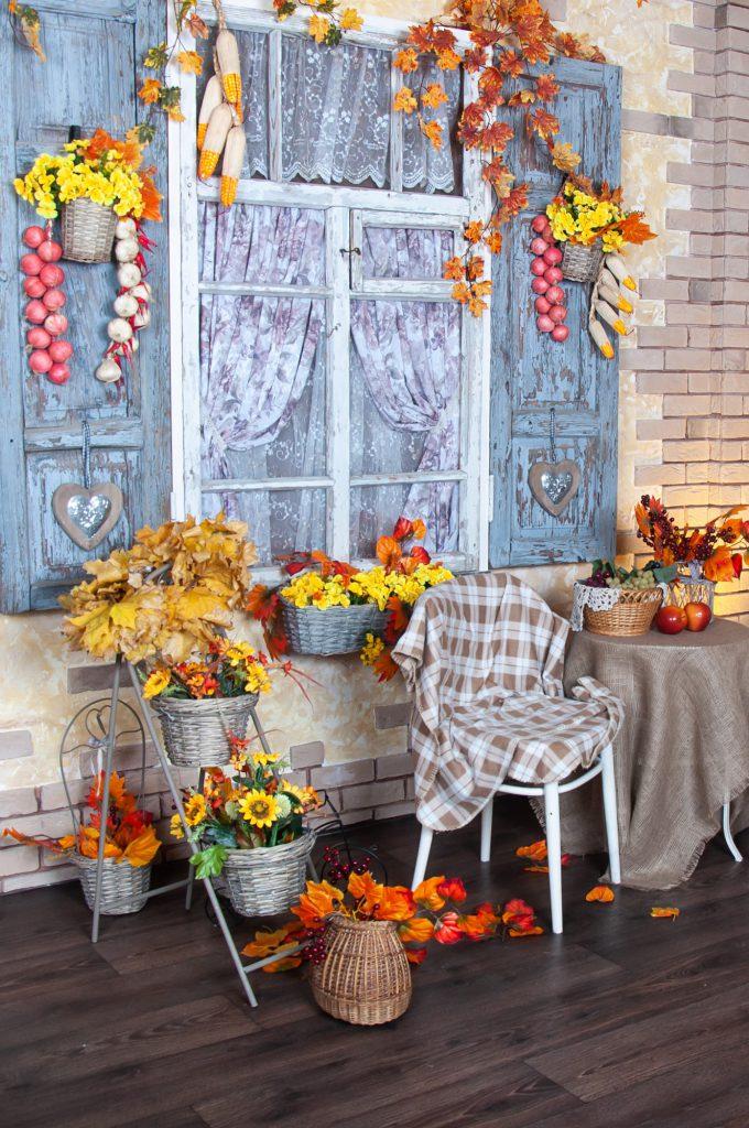 Herbstdeko basteln für Fenster Galerie 2