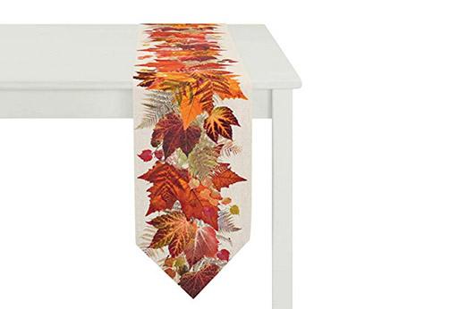 Tischläufer, Baumwolle, orange, 28 x 175 x 0.5 cm