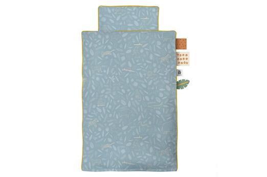 """Sebra Baby-Bettwäsche """"Wildlife"""" (100x70 / 40x45) aus Bio-Baumwolle in eucalyptus blue"""
