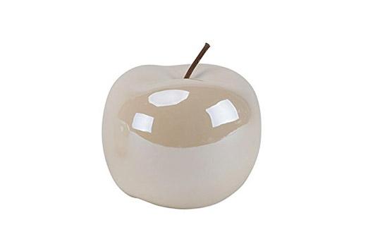 Deko-Apfel aus Keramik - Lüster Creme Ø12xH12cm