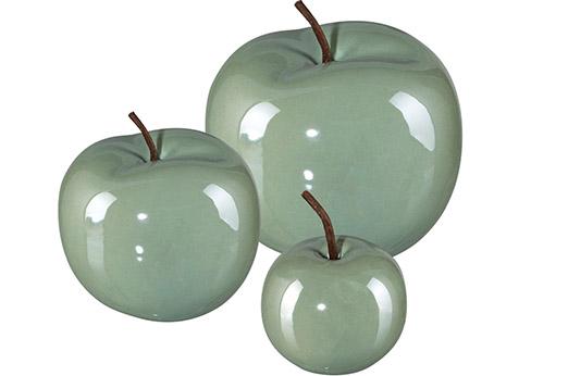 Dekoobjekt »Apfel PEARL EFCT« (Set, 3 Stück)