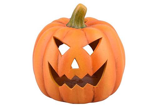 Kürbis Halloween Keramik 15x15x14cm orange
