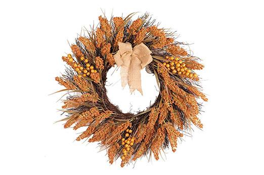45cm Türkranz Herbst orange braun