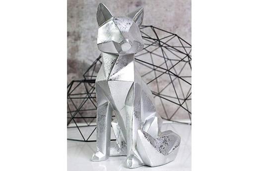 "Pajoma 3D Statue ""Fuchs"" matt silber H 25 cm"