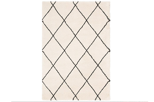 Hochflor-Teppich Belle rechteckig, Höhe 35 mm