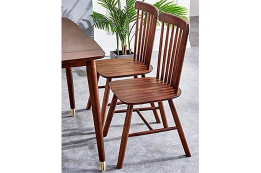 2er-Set Windsor Stühle Walnuss braun