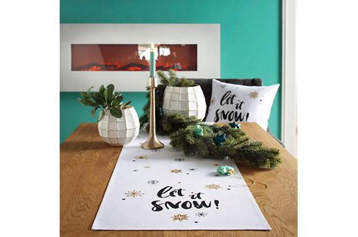CASATEX Tischläufer Let it snow (1-tlg)