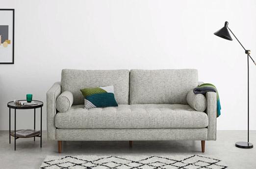 Scott 3-Sitzer Sofa, Fuchsgrau