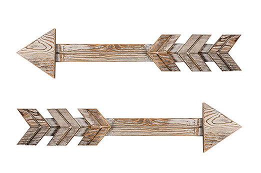 Pfeil Scheunenholz Dekorative Holzschild 2 stk. braun