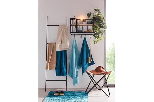 my home Handtuch Set »Anna«, mit gestreifter Strukturbordüre (6-tlg. Set)