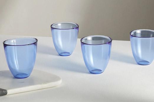 Thales 4 x Tumbler-Gläser, Blau