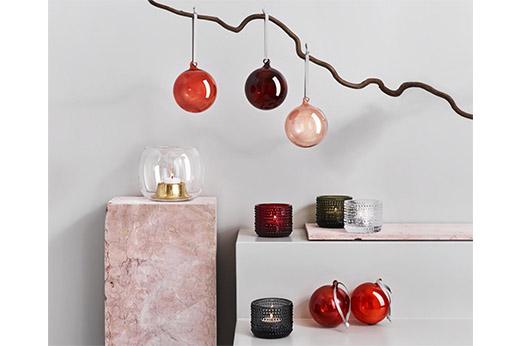 Iittala Weihnachtsbaumkugeln aus Glas 5er Pack
