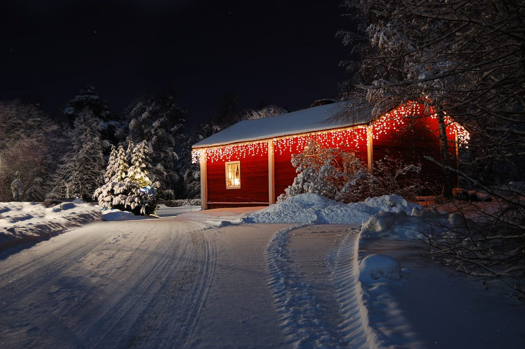 Weihnachtsbeleuchtung am Haus Galerie 1