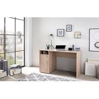 Schreibtisch MULTI, mit 1 Tür, 1 Fach natur