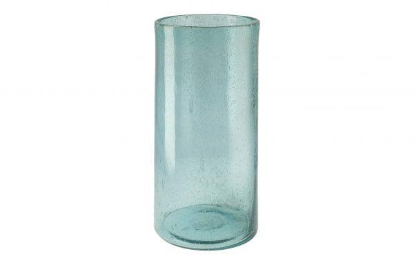 Windlicht blau  Glas  Maße (cm): H: 39 Ø: 18