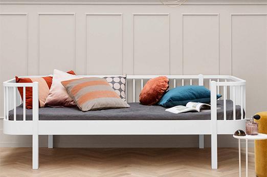 Oliver Furniture Bett Bettsofa Tagesbett Wood Collection Weiß 90x200 cm