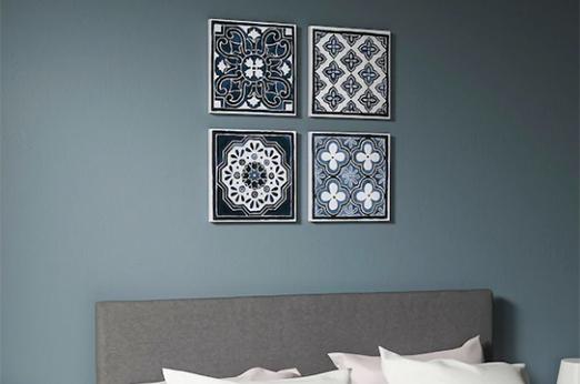 PJÄTTERYD Bild, Blaue Muster, 30x30 cm