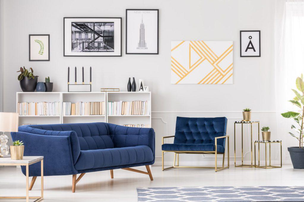 Messing Wohnzimmer blau Galerie5