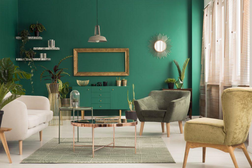 Messing Wohnzimmer gruen Galerie3