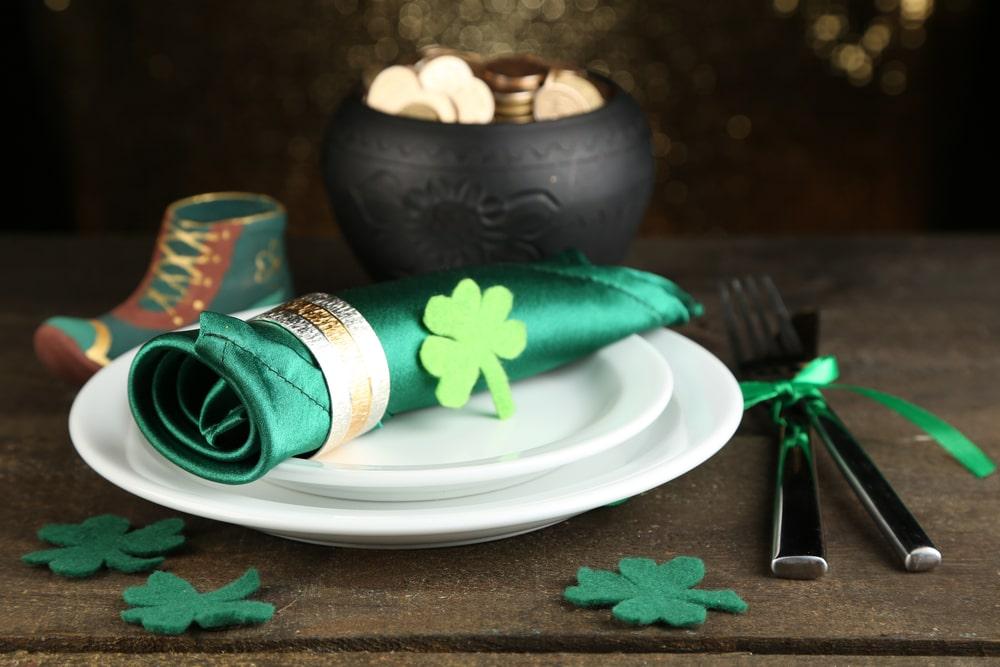 grüne St Patricks Day Deko