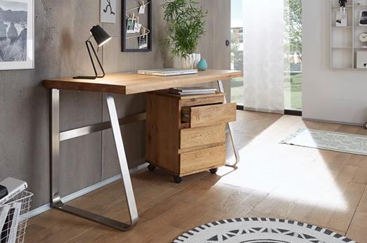 Schreibtisch Drayton braun silber
