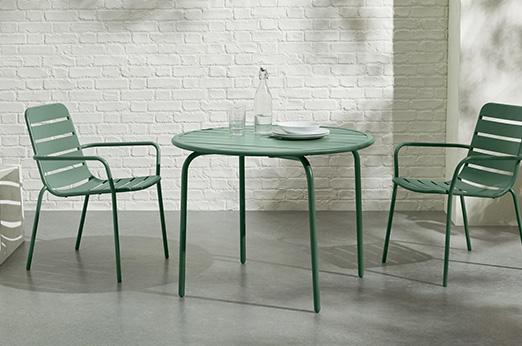 2 x MADE Essentials Tice Gartenstühle, Grün