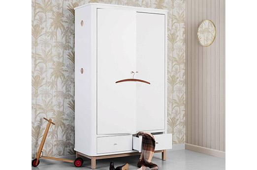 Oliver Furniture Wood Kleiderschrank 2-türig Eiche weiß