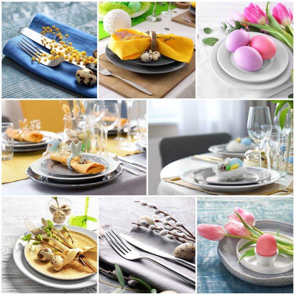 Collage mit Tipps zum perfekten Osterbrunch
