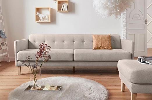 3-Sitzer Sofa Raadal grau