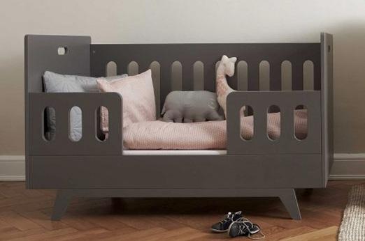 Kinderbett Gitterbet grau