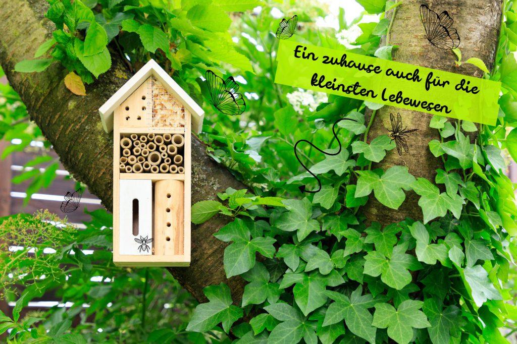 insektenfreundlicher Garten mit besonderem Insektenhotel