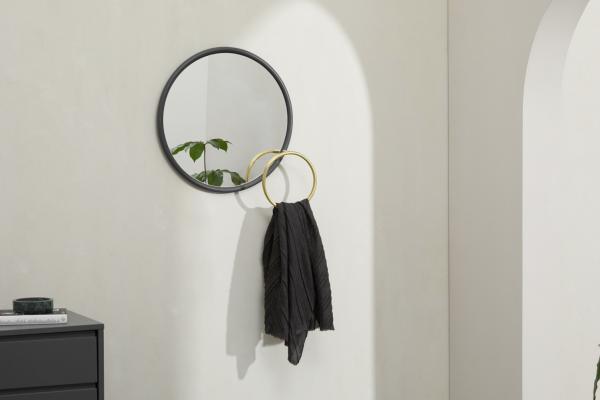 Fibar Spiegel ( 51 cm) mit Haken, Anthrazit