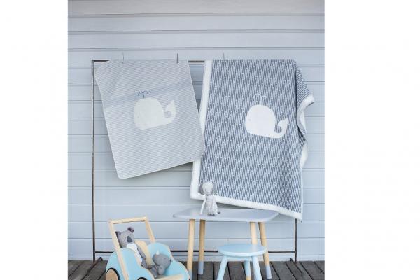 """Kinder- und Babydecke """"Wal"""", filz, 100 x 130 cm grau 100 x 130"""