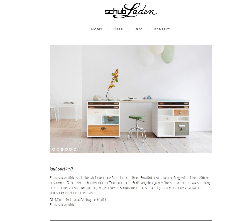 Schubladen Website