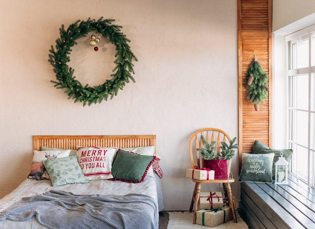 Textilien im Winter für das Schlafzimmer