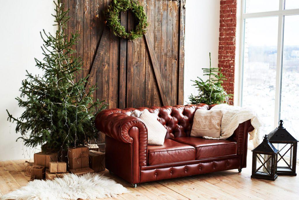 Textilien im Winter im Wohnzimmer