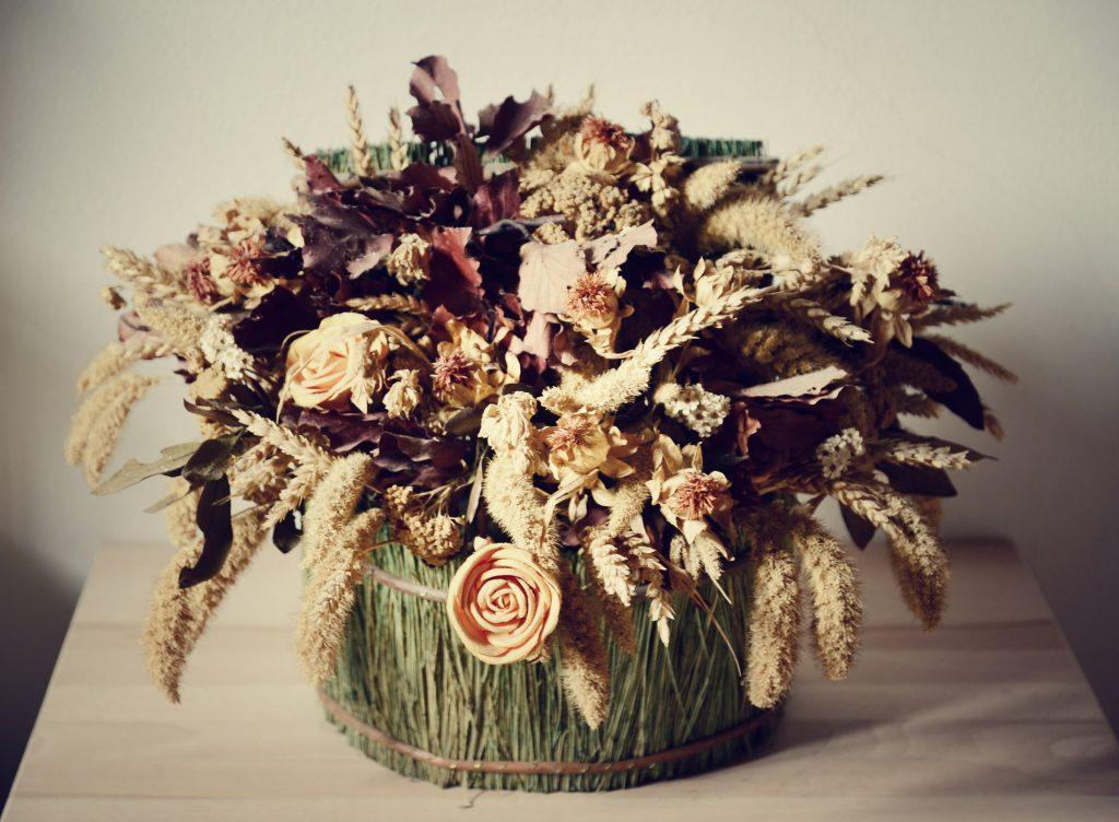 Trockenblume in Vase