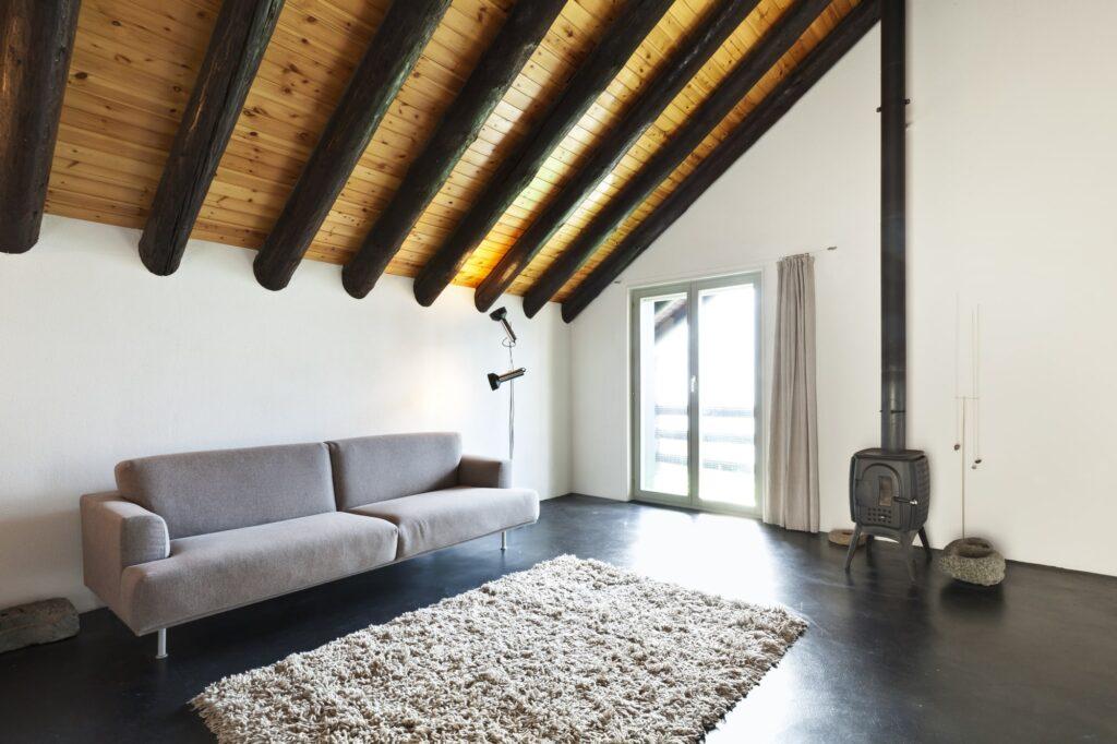 Dachschraege Wohnzimmer Galerie