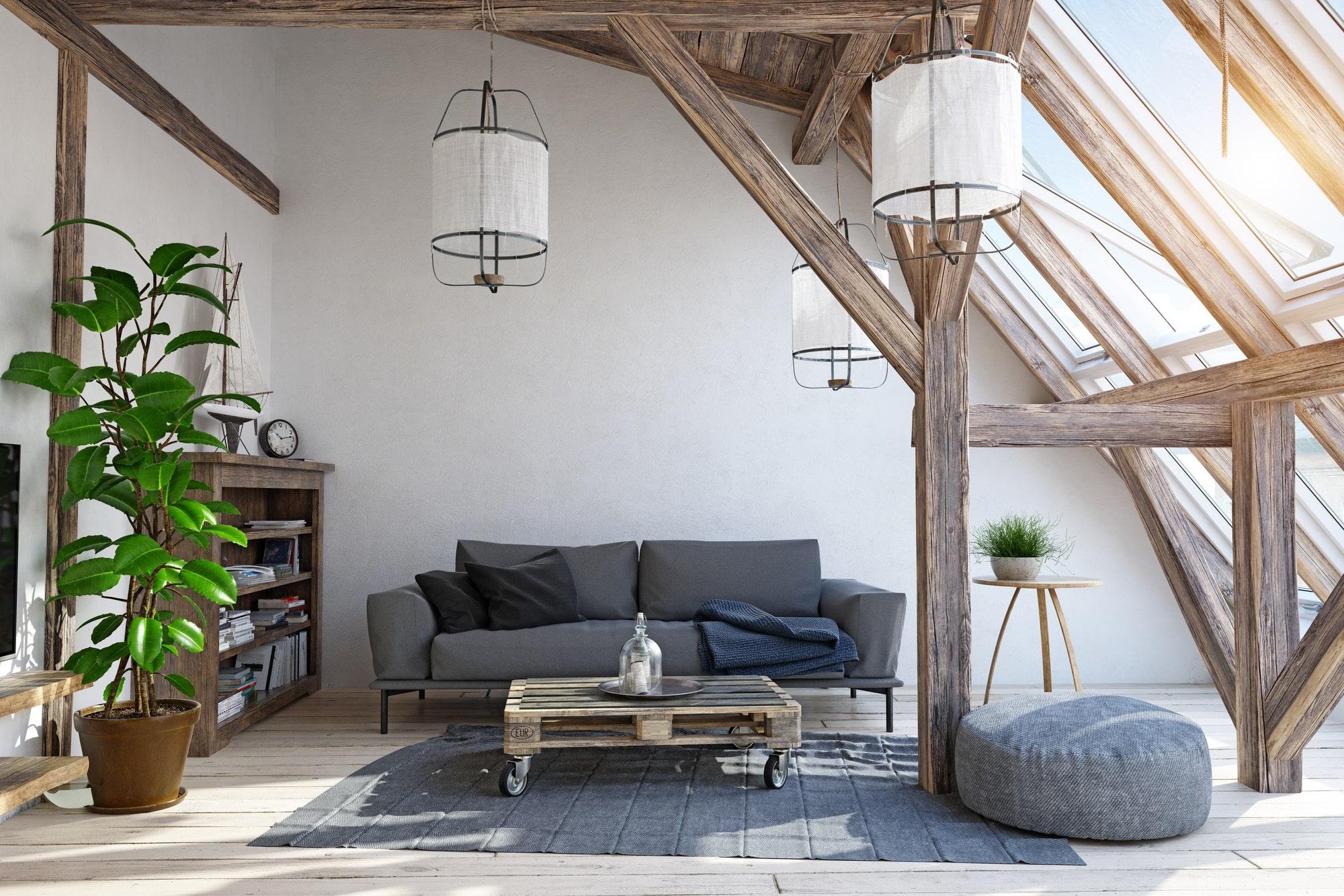 Dachschraege Wohnzimmer Vorschau