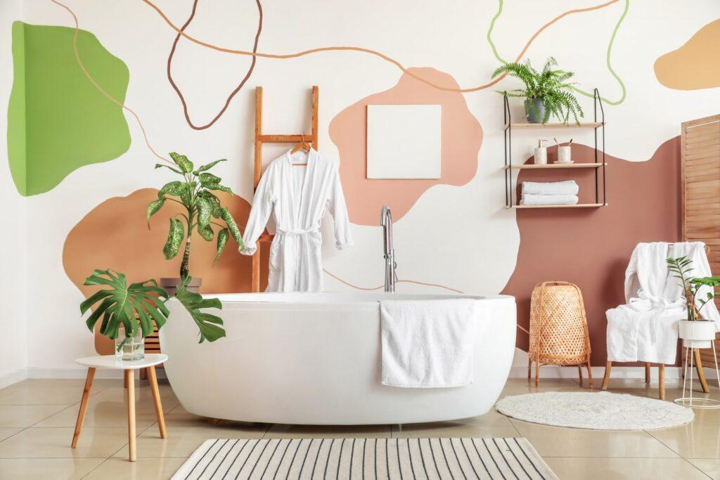 Badezimmer Tapete Galerie1