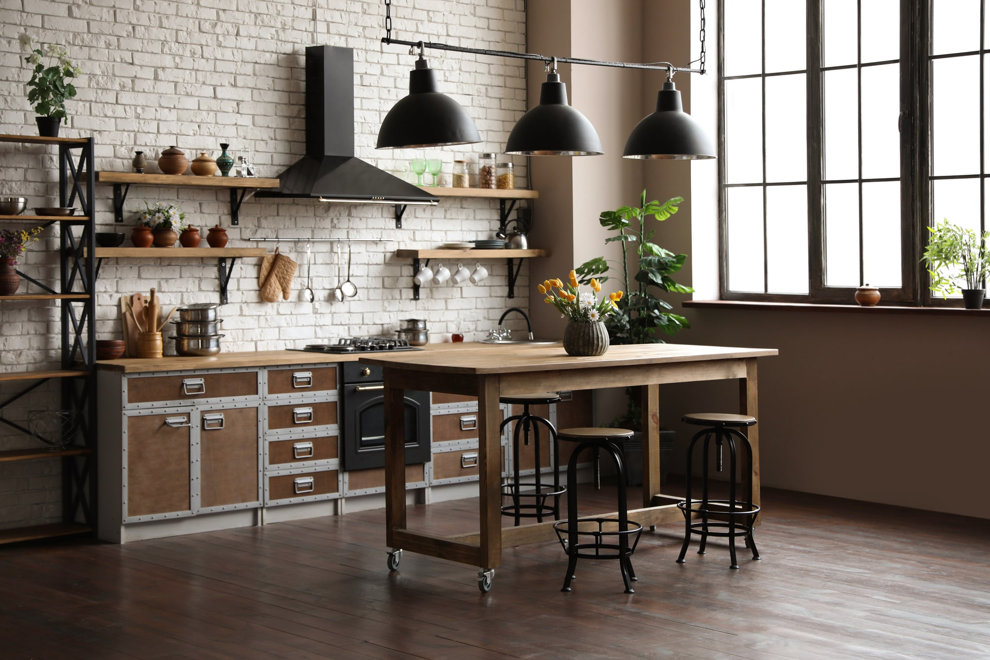 Küche mit Küchentheke Vorschau