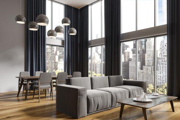 Wohnzimmer in grau Vorschau